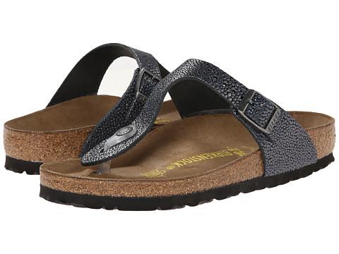Birkenstock - Gizeh (Pebbles Metallic Asphalt) Sandals
