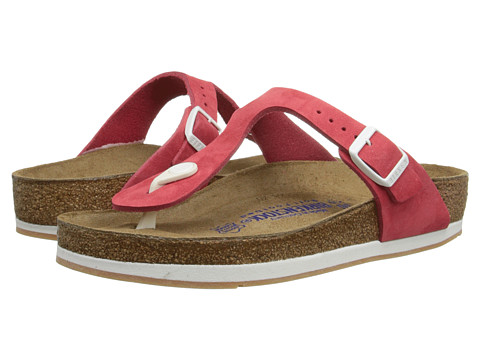 Birkenstock - Gizeh Soft Footbed Sport (Red Nubuck) Sandals