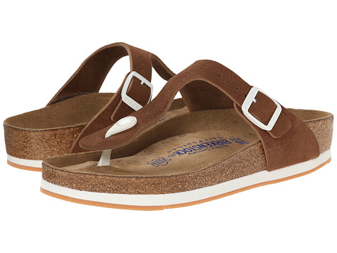 Birkenstock - Gizeh Soft Footbed Sport (Brown Nubuck) Sandals