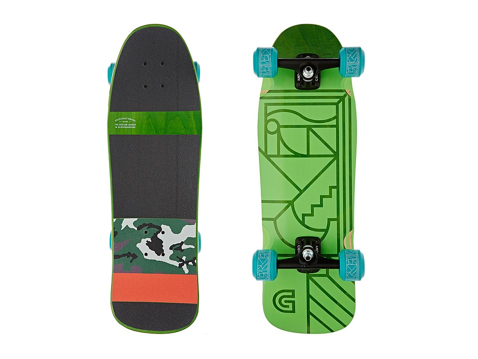 Gold Coast - The Track (Green/Black/Camo) Skateboards Sports Equipment