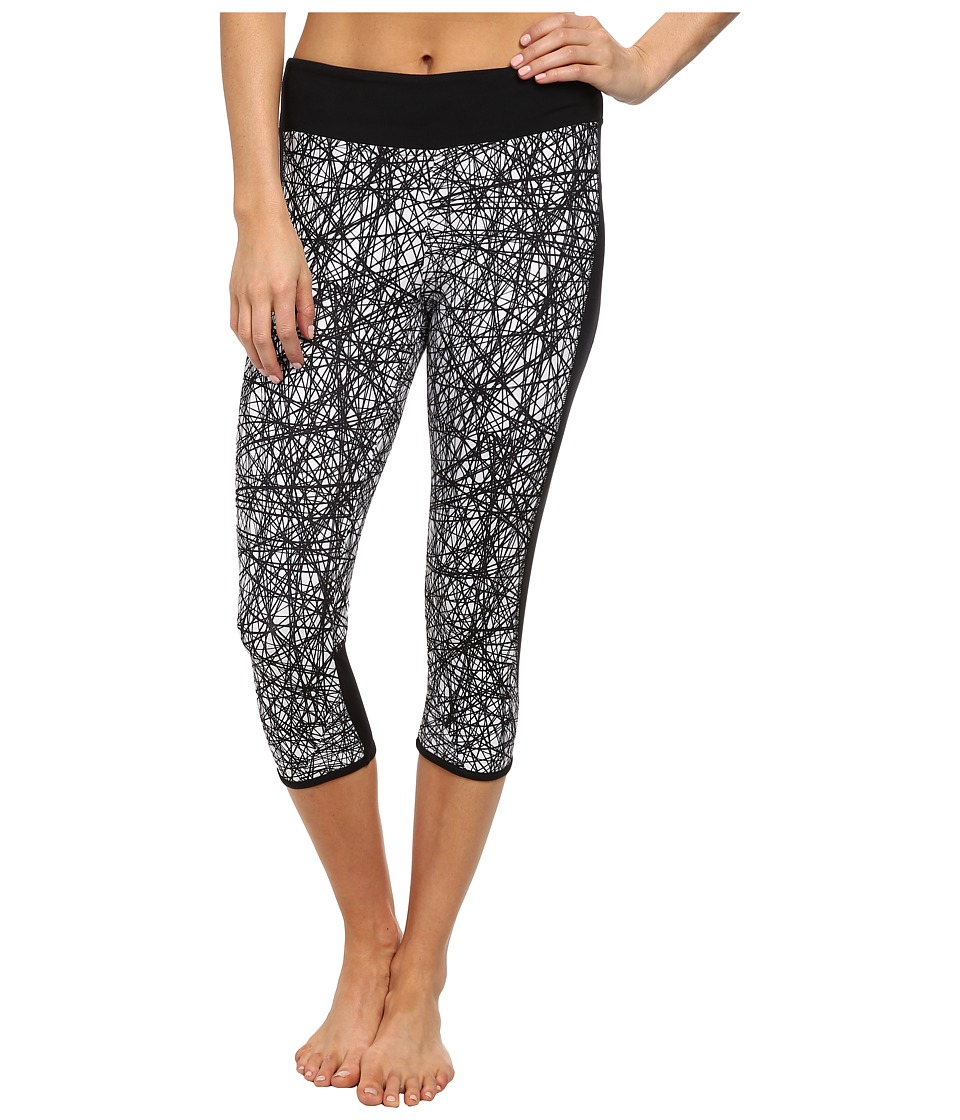 Hurley - Dri-Fit Crop Legging w/ Drawcord (White/Power Web) Women