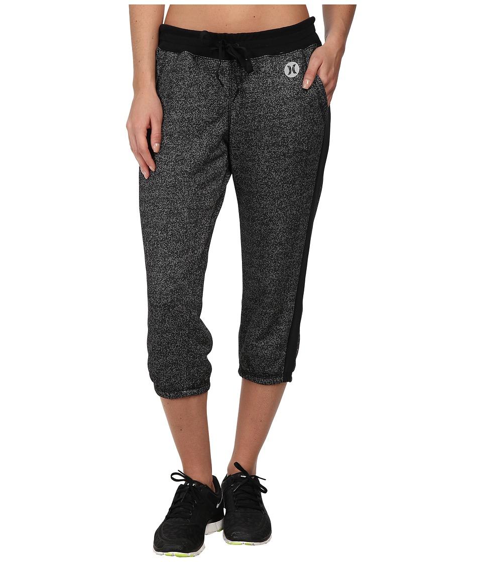 Hurley - Dri-Fit Fleece Crop Pant w/ Drawcord (Heather Black) Women