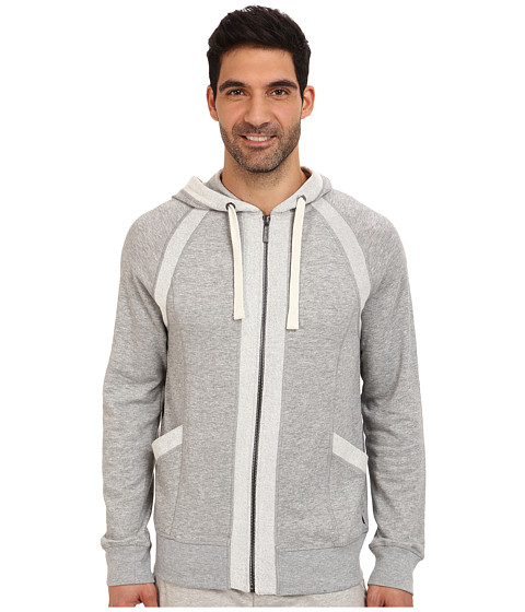 2(X)IST - Terry Full Zip Hoodie (Light Grey Heather) Men's Sweatshirt