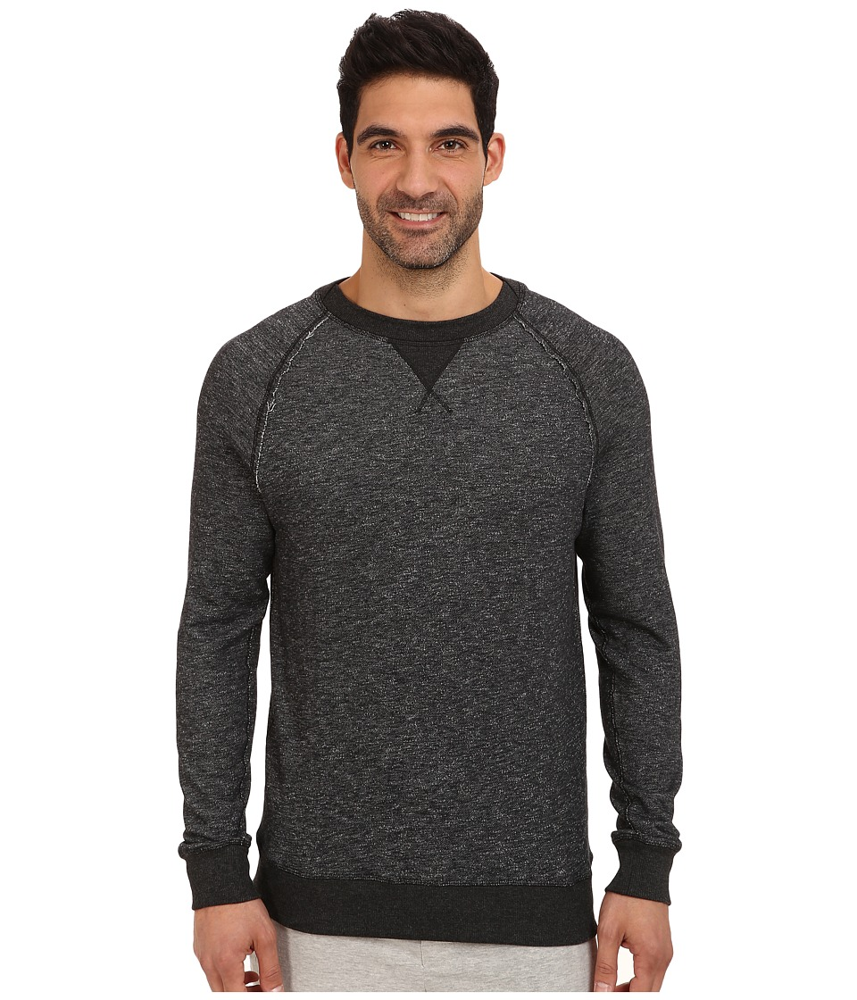 2(X)IST - Terry Crew Neck Sweatshirt (Black Heather) Men's Sweatshirt