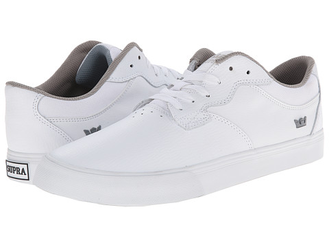 Supra - Axle (White Leather) Men's Skate Shoes