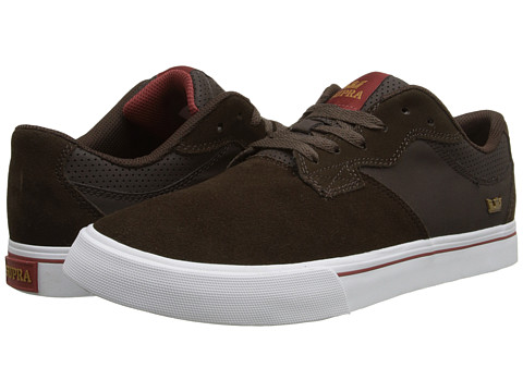 Supra - Axle (Brown Suede/Leather/White) Men's Skate Shoes