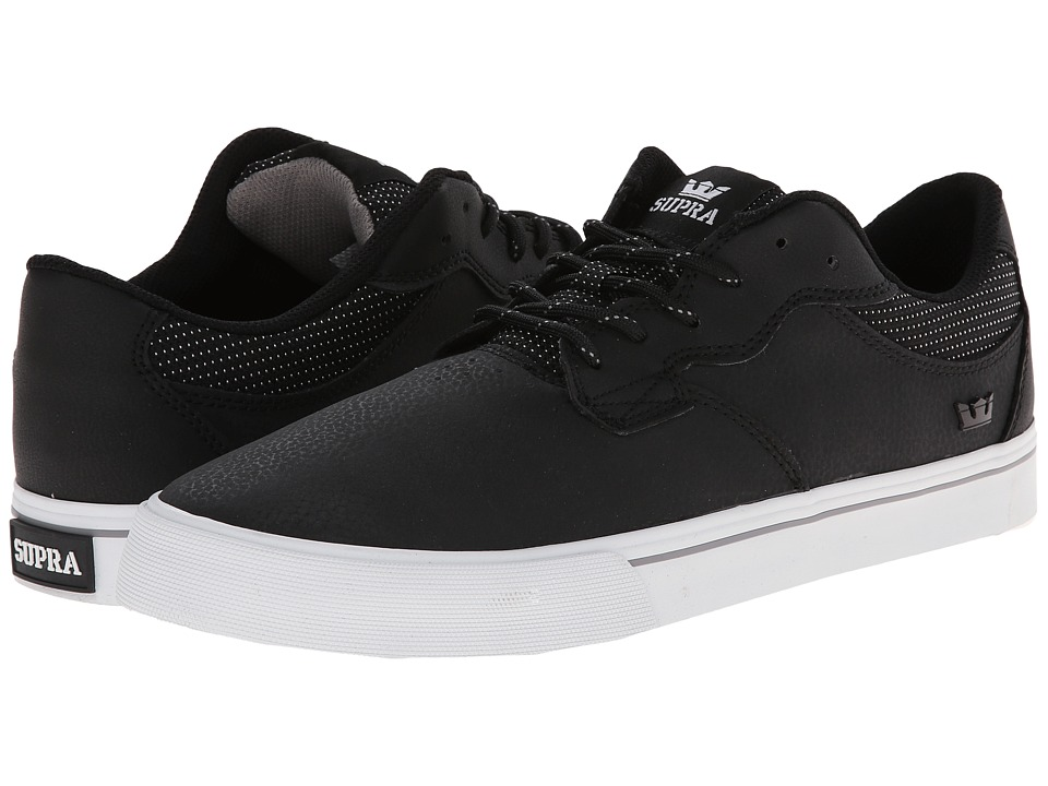Supra - Axle (Black Nubuck/White) Men's Skate Shoes