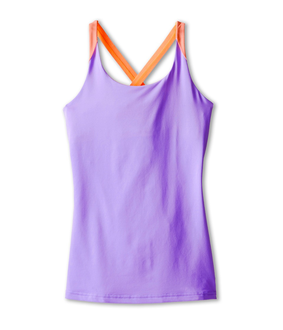 adidas Kids - Response Trend Tank (Little Kids/Big Kids) (Light Flash Purple/Flash Orange) Girl's Sleeveless