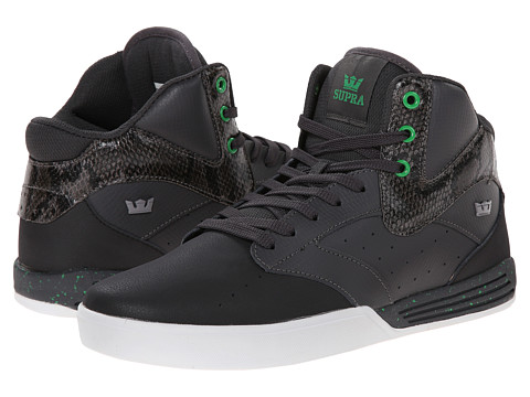 Supra - Khan (Grey/Black/White) Men's Skate Shoes