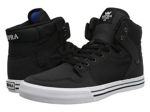 Supra - Vaider (Black/White/Nubuck) Skate Shoes