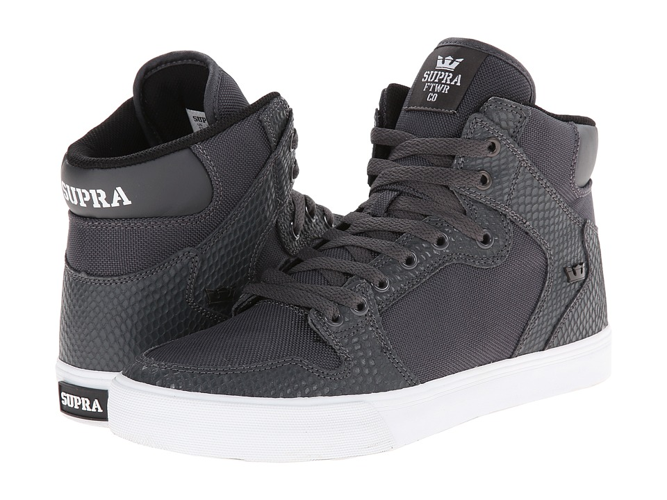 Supra - Vaider (Grey/Snake/White) Skate Shoes