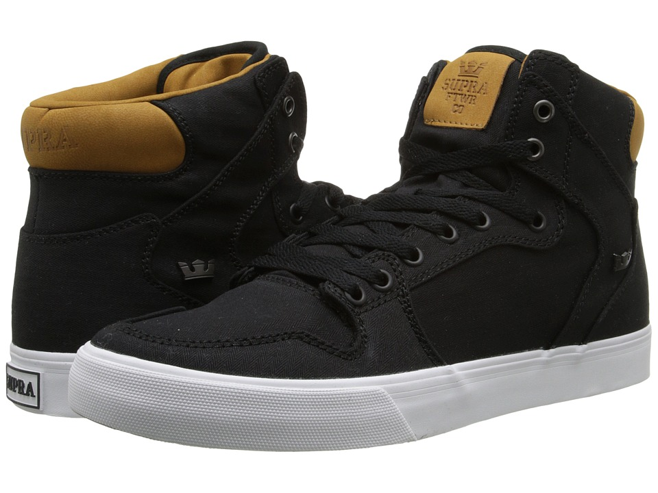 Supra - Vaider (Black/Brown/White) Skate Shoes