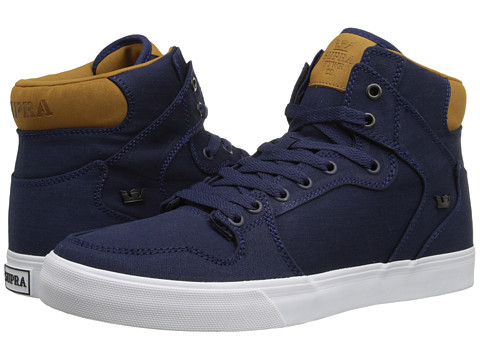 Supra - Vaider (Navy/Brown/White) Skate Shoes