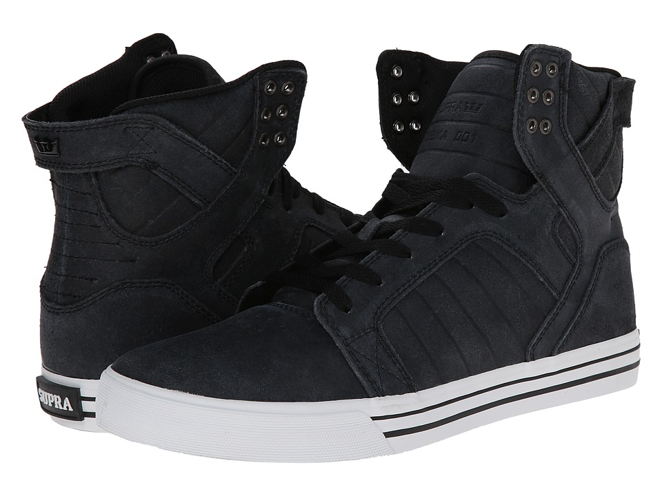 Supra - Skytop (Black/White/Carlisle Leather) Men's Skate Shoes