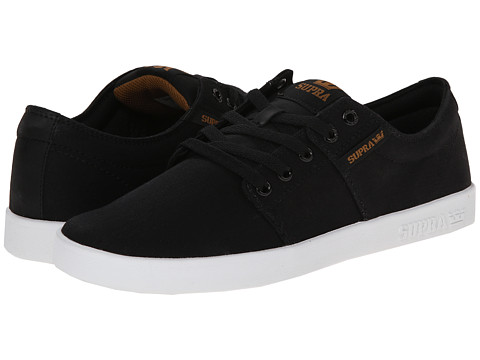 Supra - Stacks II (Black/White/Micro-Herringbone) Men's Skate Shoes