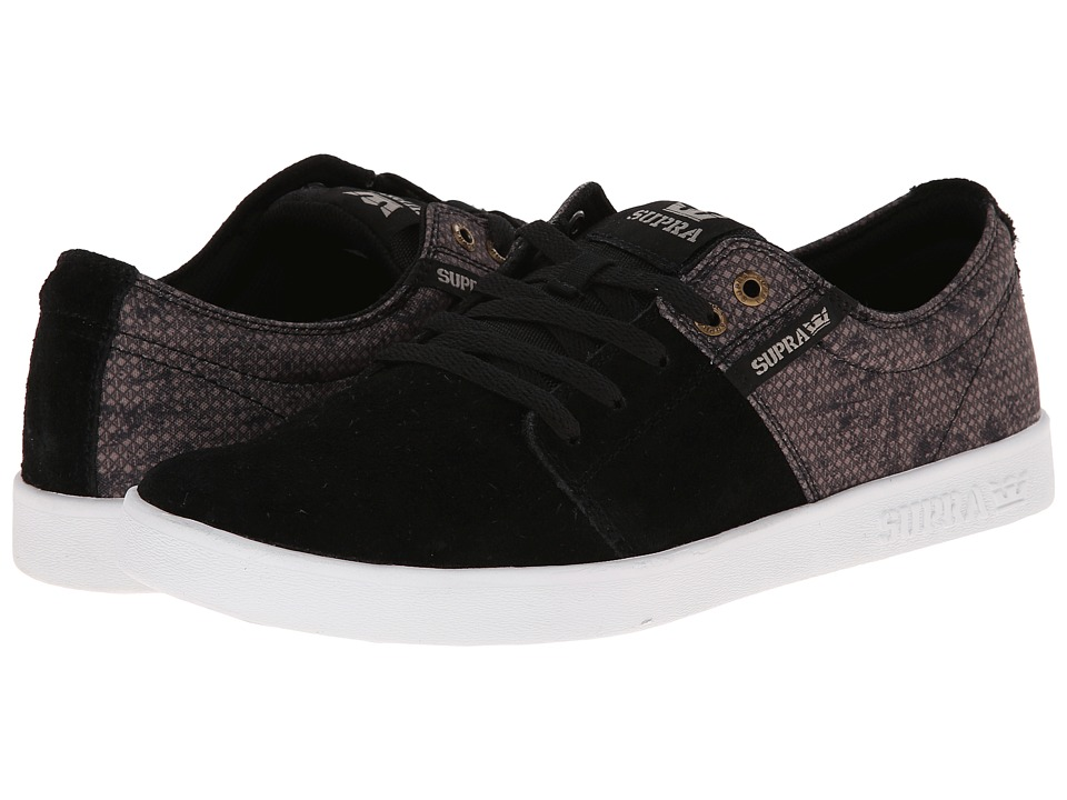 Supra - Stacks II (Black/Bronze/White) Men's Skate Shoes