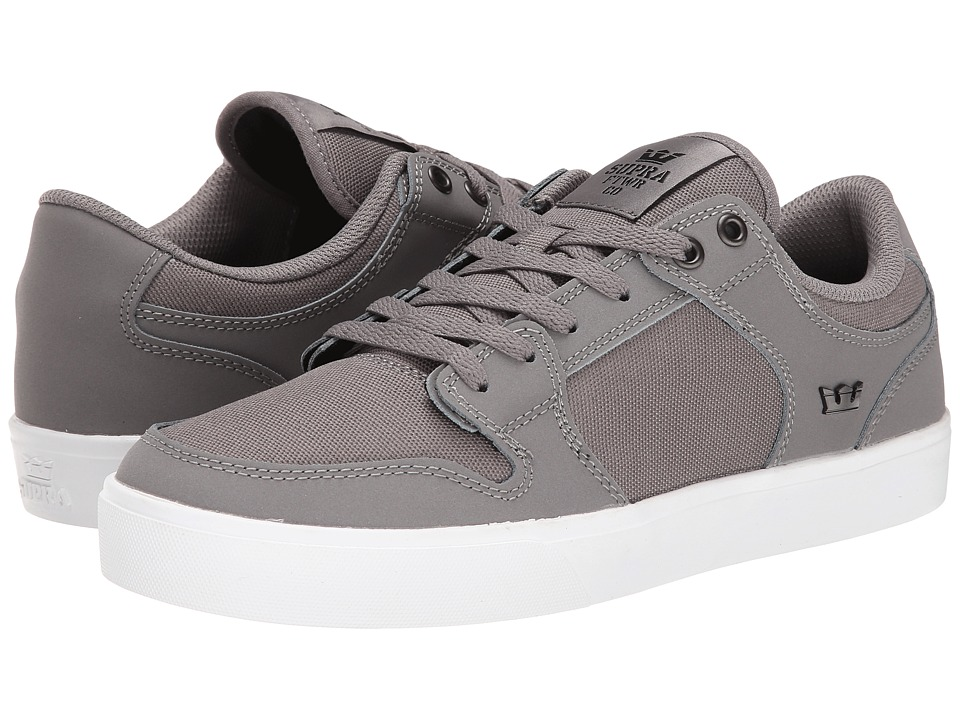 Supra - Vaider LC (Grey/Gum/Nubuck) Men's Skate Shoes