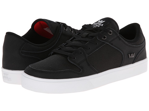 Supra - Vaider LC (Black/White/Nubuck) Men's Skate Shoes