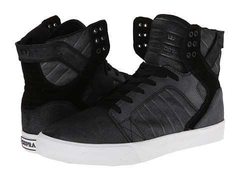 Supra - Skytop LX (Black/Metallic/White) Men's Skate Shoes