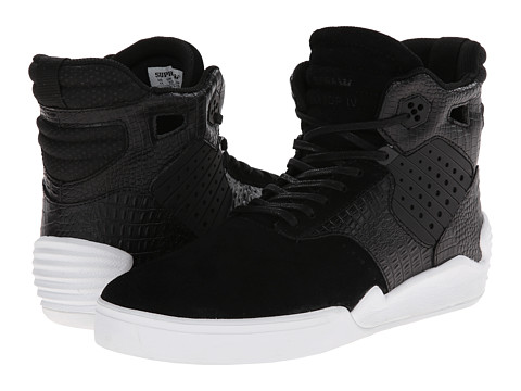 Supra - Skytop IV (Black/Croc) Men's Skate Shoes