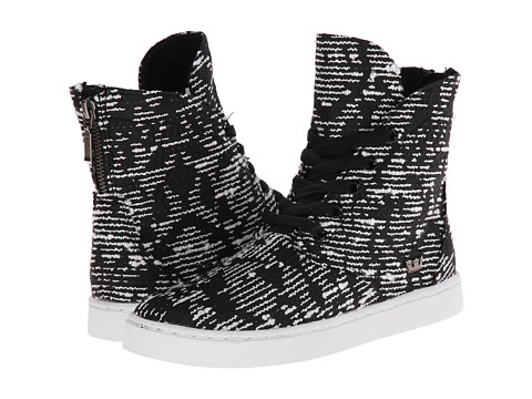 Supra - Joplin (Black/Pattern/White) Women