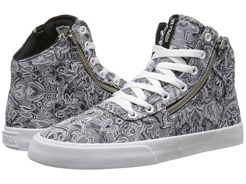 Supra - Cuttler (Grey/Pattern/White) Women's Skate Shoes