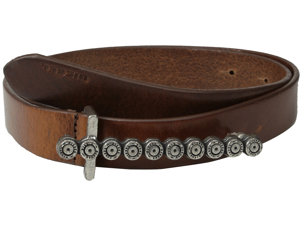 Diesel - Batarra Belt (Dark/Brown) Women's Belts