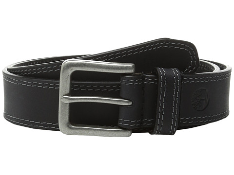 Timberland - Boot Leather Belt (Black 1) Men's Belts