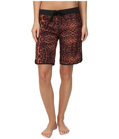 Hurley - Supersuede Printed 9 Beachrider (Total Orange Leopard) Women's Swimwear