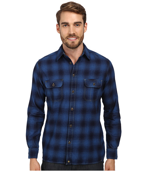 Agave Denim - Indigo Plaid L/S Button Up Shirt (Mill Valley) Men