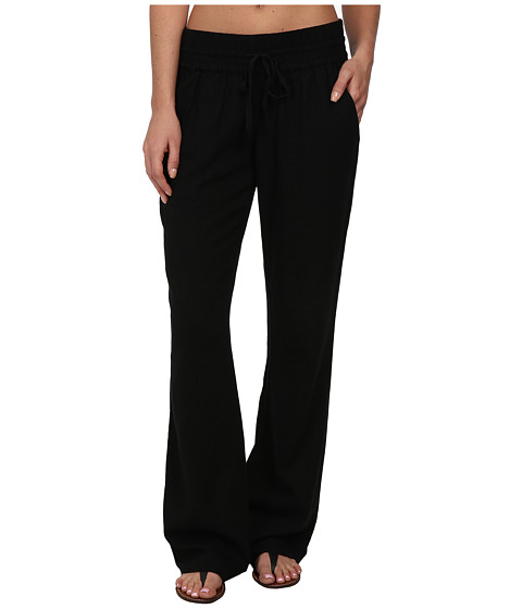 Hurley - Seaside Beach Pant w/ Drawcord (Black) Women's Casual Pants
