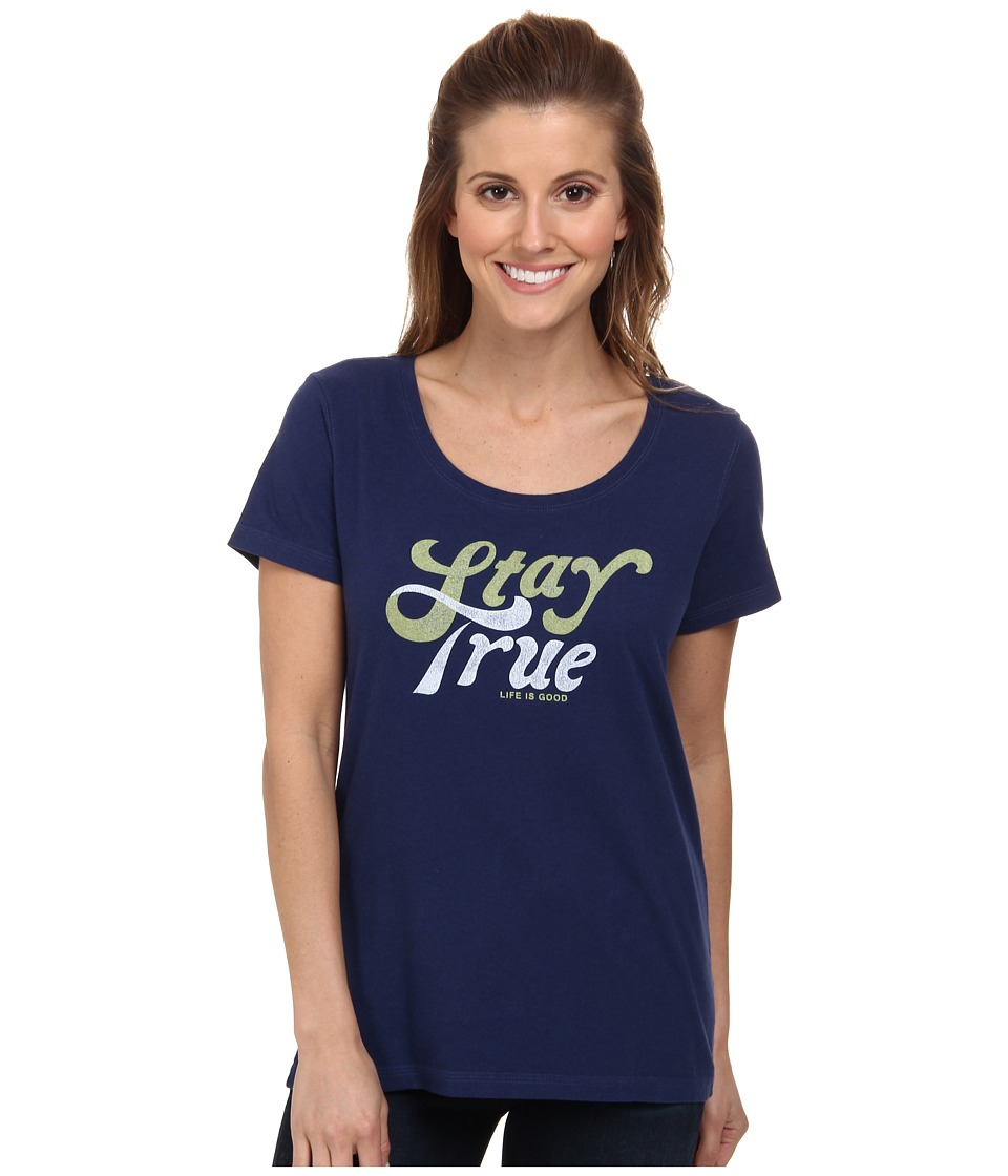 Life is good - Creamy Scoop Tee (Darkest Blue) Women's T Shirt