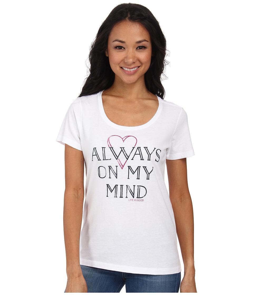Life is good - Creamy Scoop Tee (Cloud White) Women