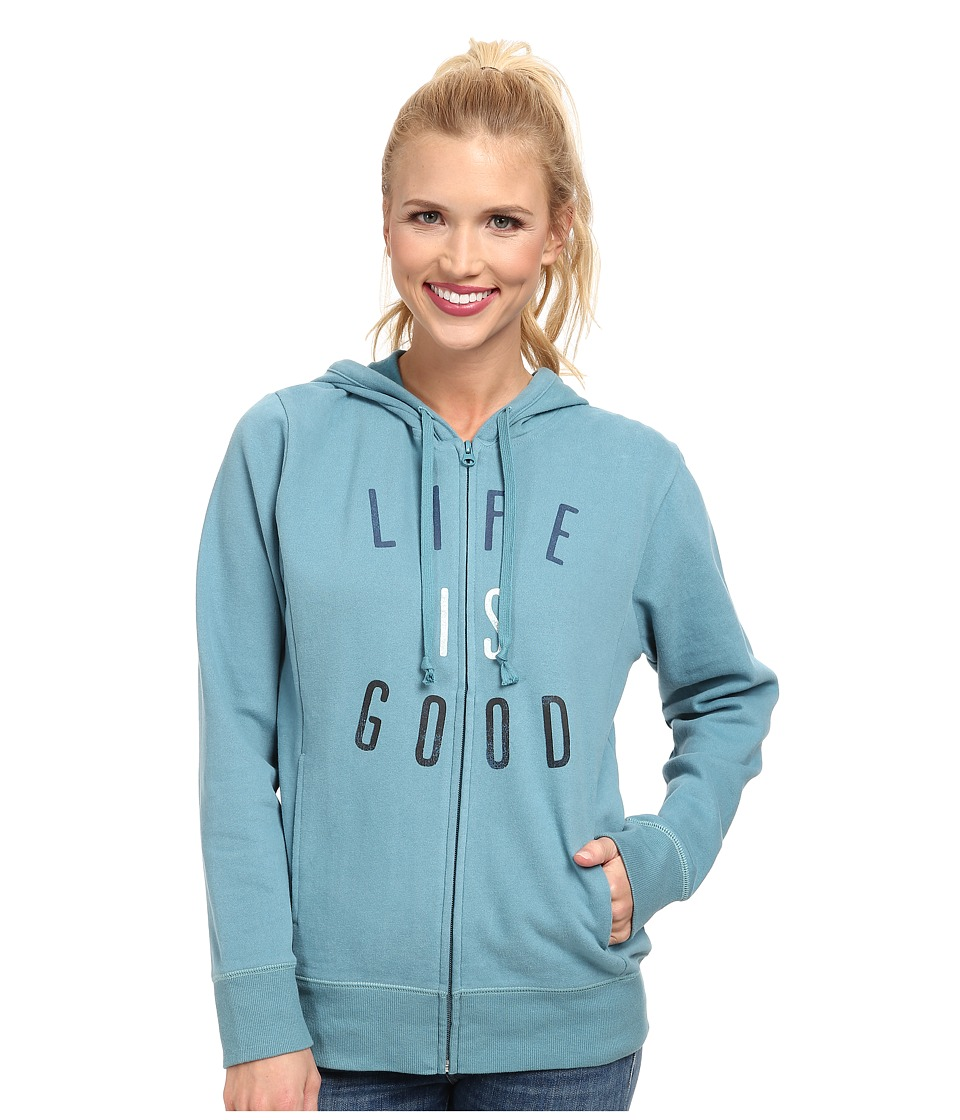 Life is good Go-To Zip Hoodie (Dusty Blue) Women