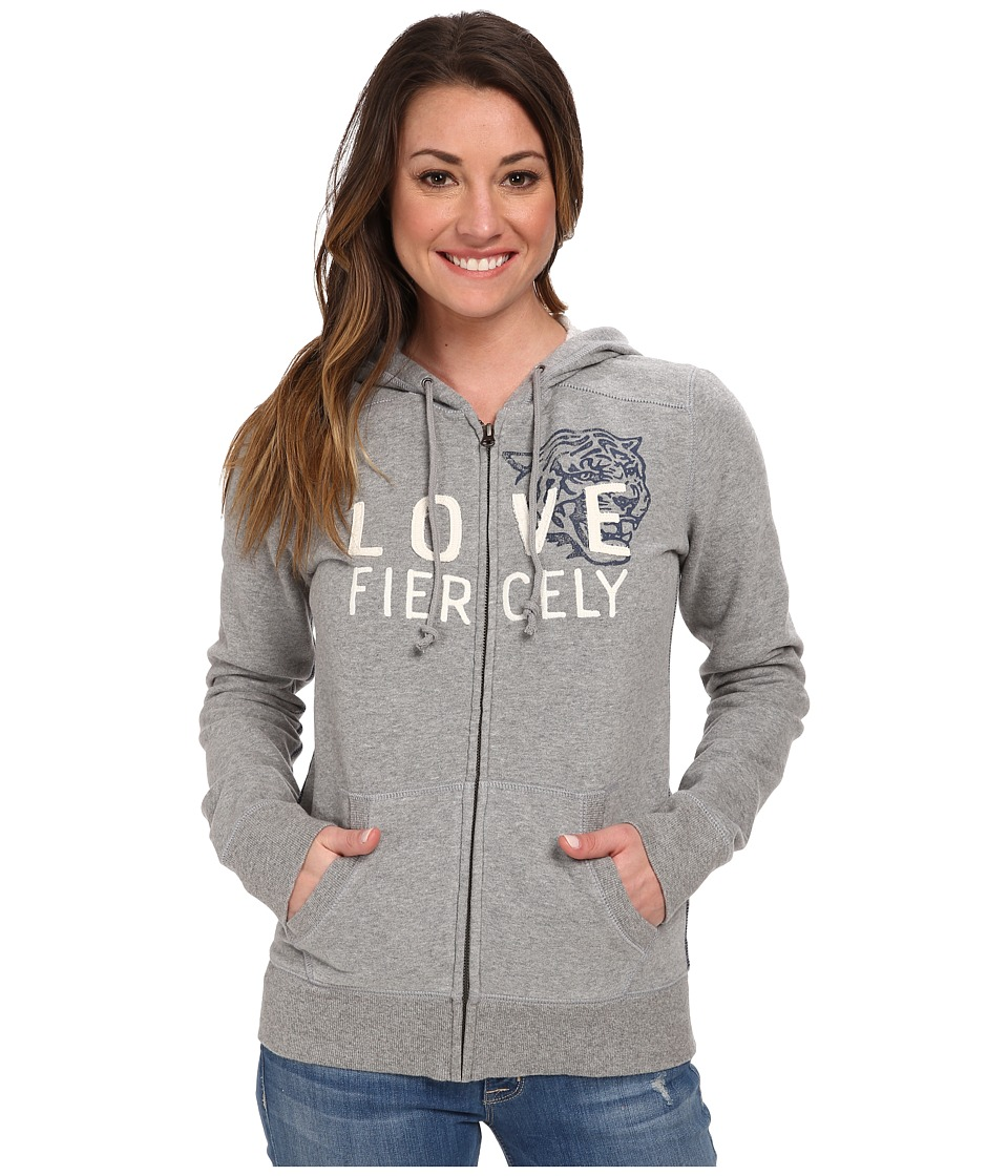 Life is good - All Good Zip Hoodie (Heather Grey) Women