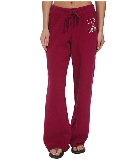 Life is good - Raw Edge Varsity Sweatpants (Wild Cherry) Women's Casual Pants