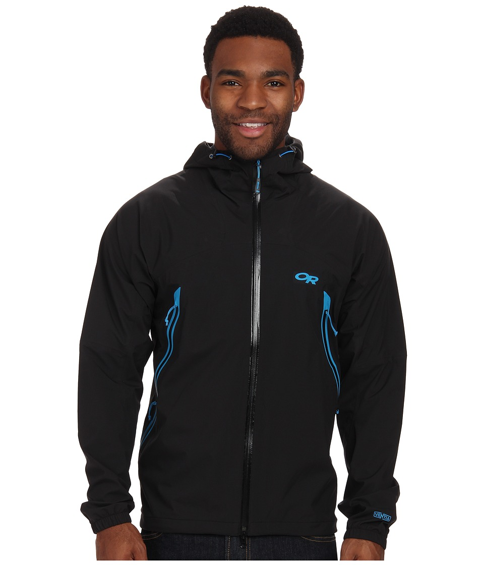 Outdoor Research - Allout Hooded Jacket (Black/Hydro) Men's Coat