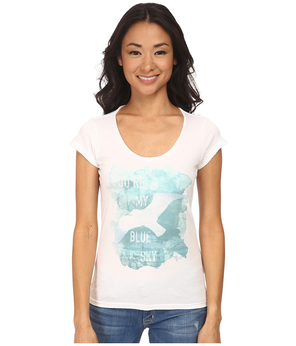 Life is good - Lightweight Crusher Tee (Cloud White) Women