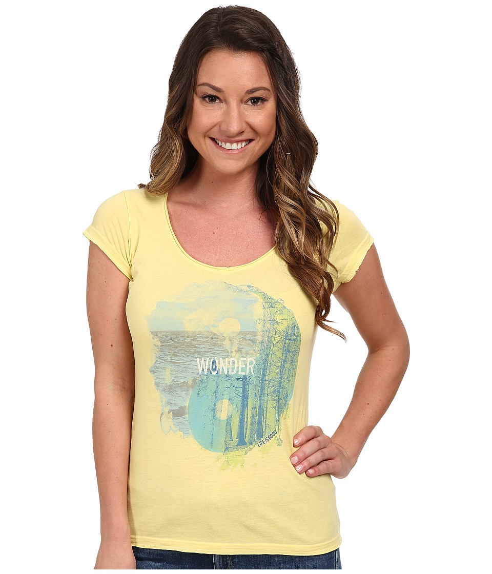 Life is good - Lightweight Crusher Tee (Lemony Yellow) Women's T Shirt
