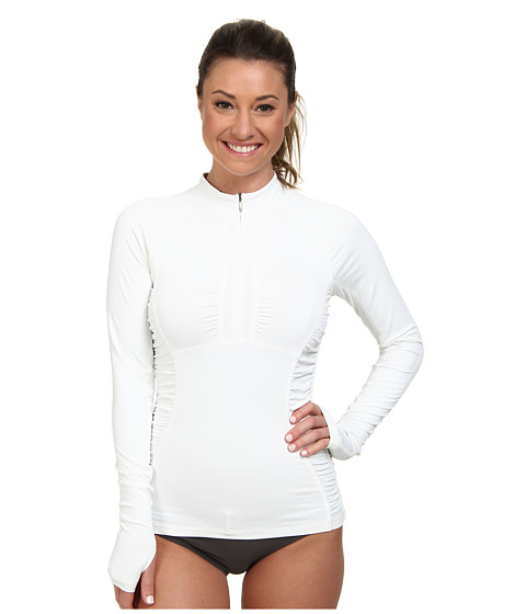 The North Face - Cascade 1/4 Zip Rash Guard Top (TNF White) Women's Swimwear