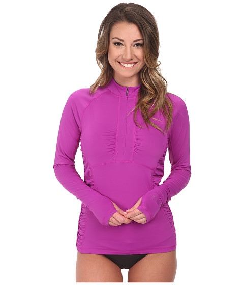 The North Face - Cascade 1/4 Zip Rash Guard Top (Magic Magenta) Women's Swimwear