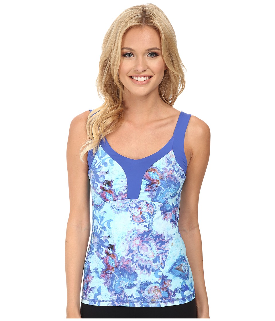 The North Face - Echo Lake Tank (Quill Blue Print) Women's Sleeveless