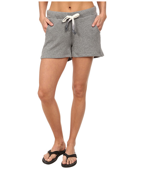 Life is good - Terry Shorts (Heather Grey) Women's Shorts
