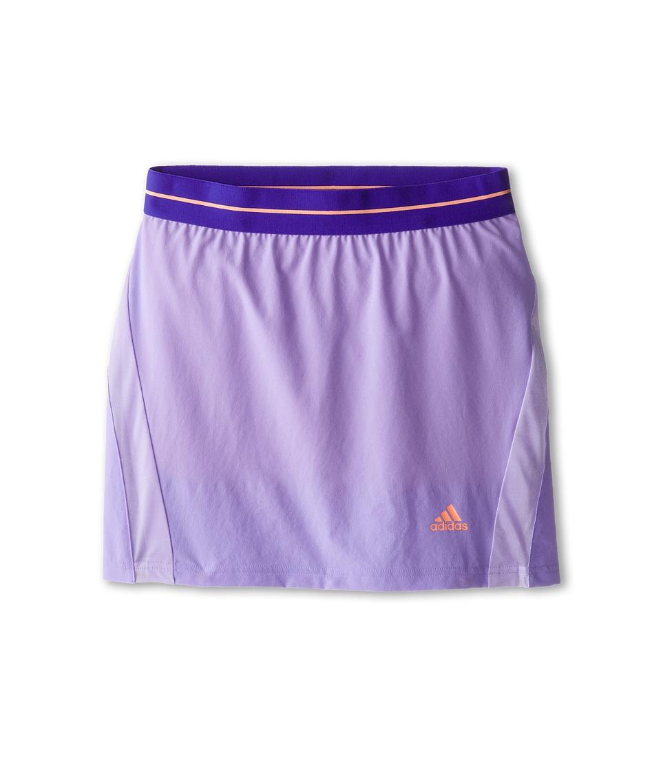 adidas Kids - Adizero Skort (Little Kids/Big Kids) (Light Flash Purple/Flash Orange) Girl's Skort