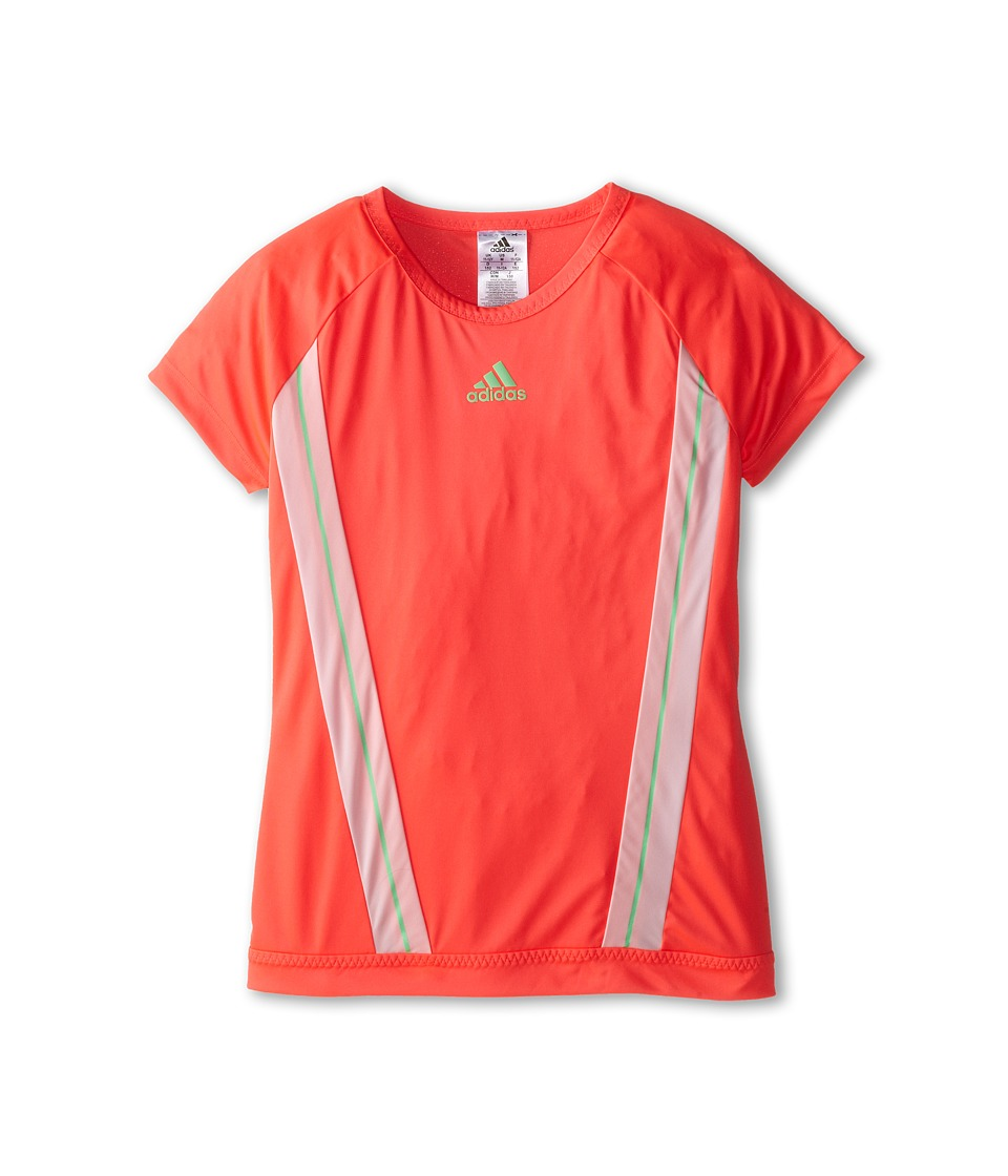 adidas Kids - Adizero Tee (Little Kids/Big Kids) (Flash Red/Light Flash Green) Girl's T Shirt