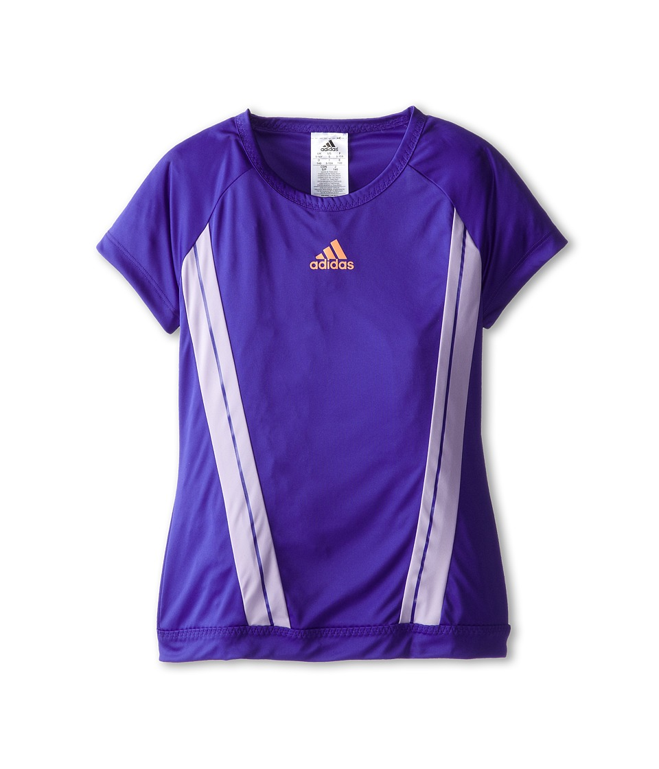 adidas Kids - Adizero Tee (Little Kids/Big Kids) (Night Flash/Flash Orange) Girl's T Shirt