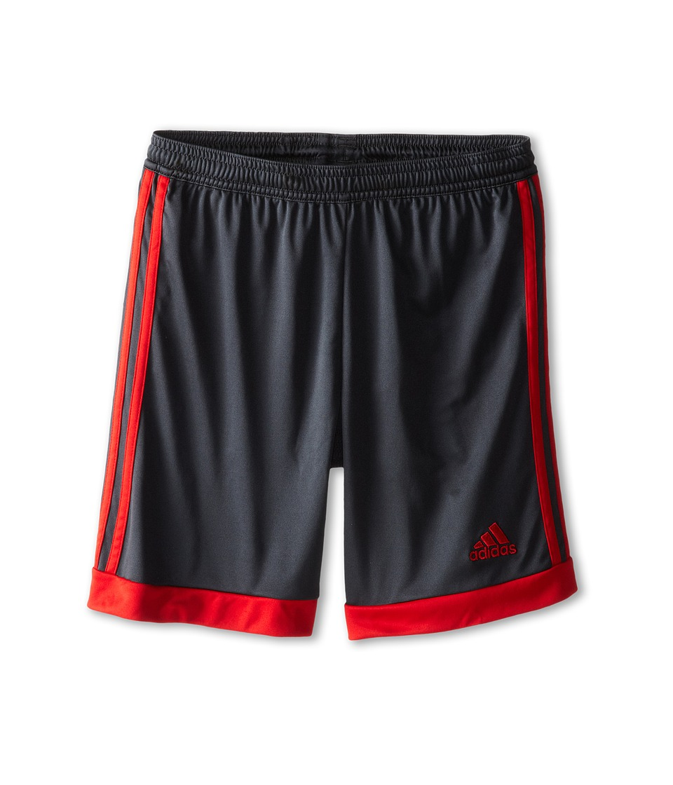 adidas Kids - Tastigo 15 Short (Little Kids/Big Kids) (Dark Grey/Scarlet) Girl's Shorts