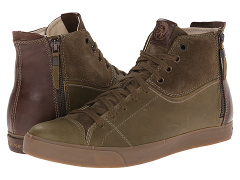 Diesel - D-Zippy (Olive Night/Java) Men's Lace up casual Shoes