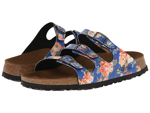 Birkenstock - Florida by Papillio (Rambling Rose Blue Birko-Flor ) Women's Shoes