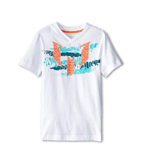 adidas Kids - Messi Logo Tee (Little/Big Kids) (White) Boy
